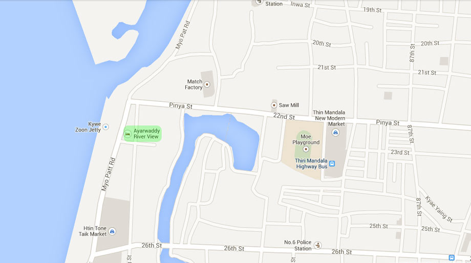 Ayarwaddy River View Hotel Map